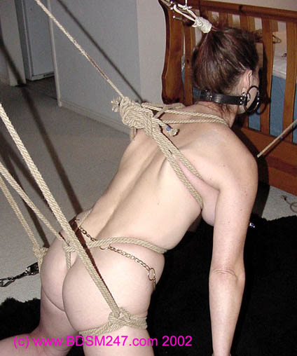 Strappado claustrophobia and orgasm predicament for captive